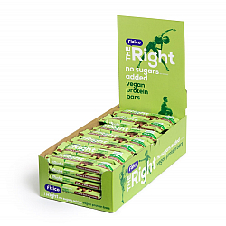 Pachet 28 Batoane proteice vegane 23%, Fizico The Right Vegan, cafea si ciocolata neagra, fara zaharuri adaugate, 28 buc x 40 g