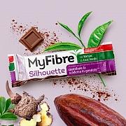 imageMyFibre Silhouette baton pentru scaderea in greutate*, cu Glucomannan (Konjac Mannan) si ceai verde, acoperit cu ciocolata cu lapte, fara zaharuri adaugate, cu indulcitori, 40g