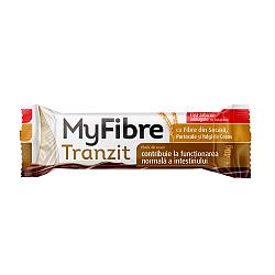 MyFibre Tranzit baton digestiv, cu fibre din secara, cocos si portocale, acoperit cu ciocolata cu lapte, fara zaharuri adaugate, cu indulcitori, 40g